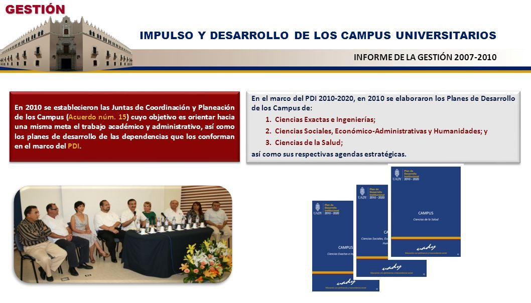 GESTIÓN IMPULSO Y DESARROLLO DE LOS CAMPUS UNIVERSITARIOS