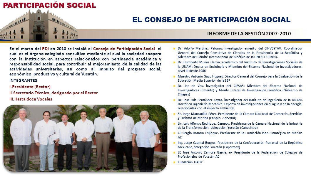 EL CONSEJO DE PARTICIPACIÓN SOCIAL