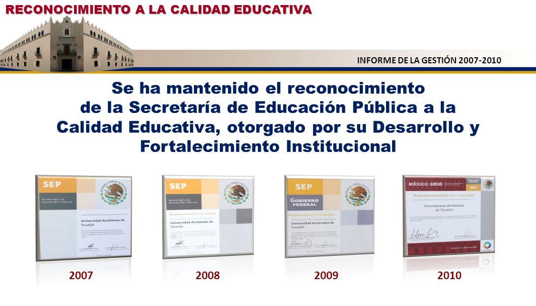 RECONOCIMIENTO A LA CALIDAD EDUCATIVA