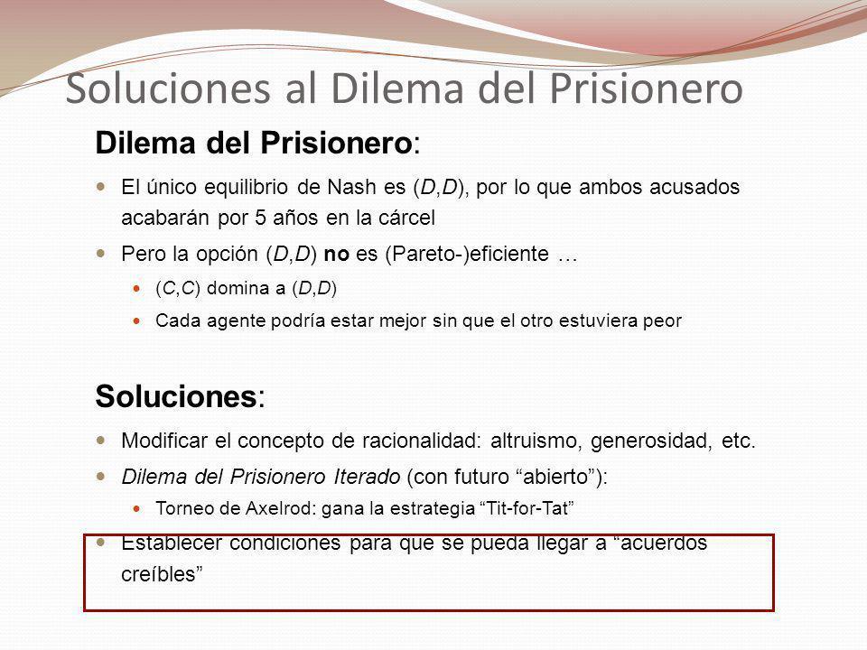 Soluciones al Dilema del Prisionero