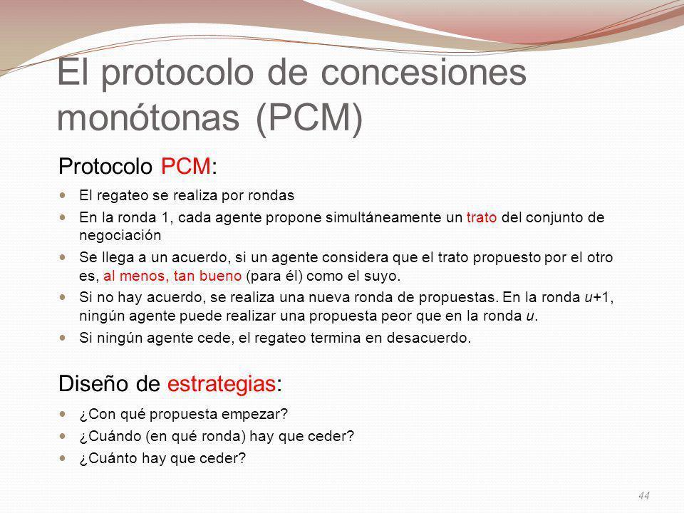 El protocolo de concesiones monótonas (PCM)