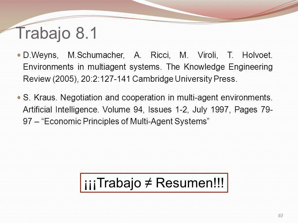 Trabajo 8.1 ¡¡¡Trabajo ≠ Resumen!!!