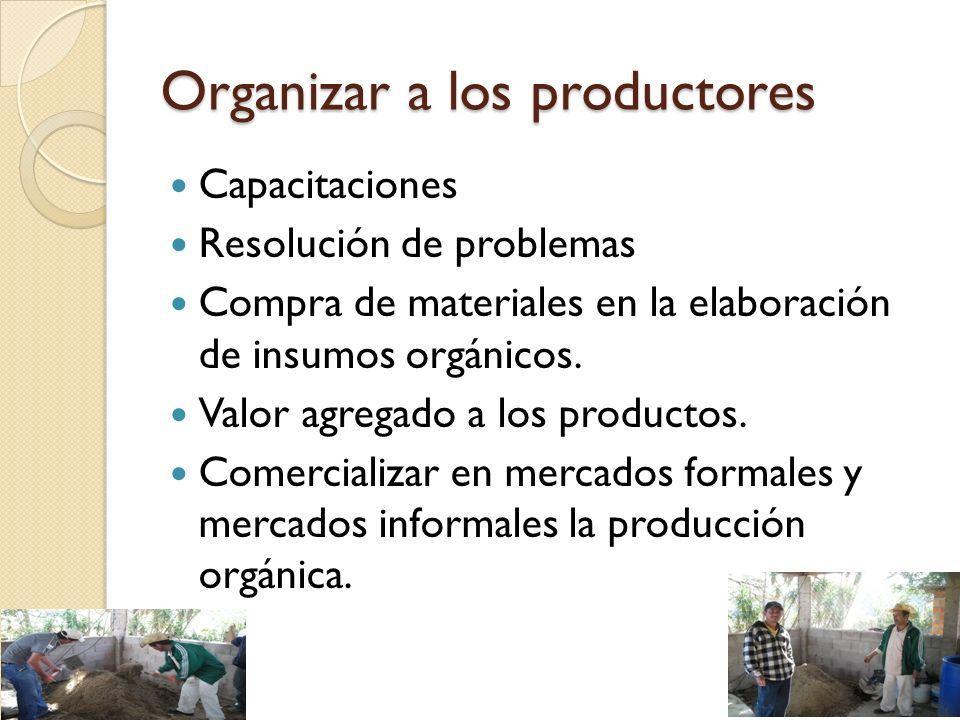 Organizar a los productores