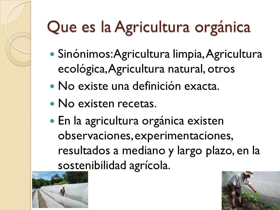 Que es la Agricultura orgánica