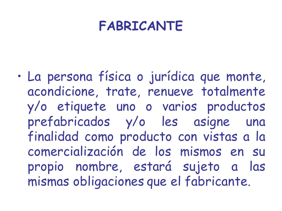 FABRICANTE