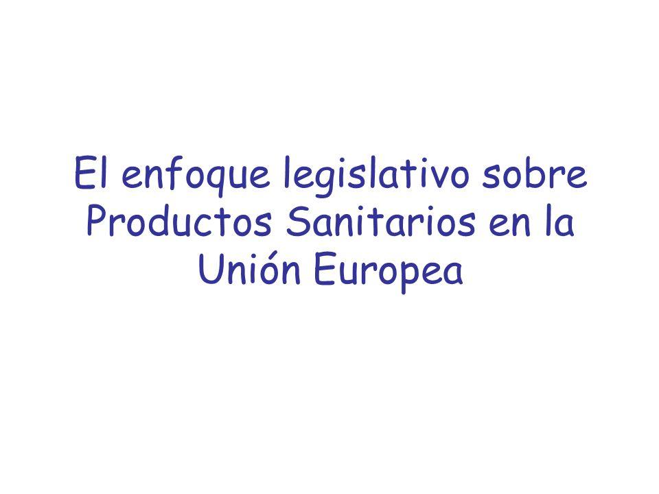 El enfoque legislativo sobre Productos Sanitarios en la Unión Europea