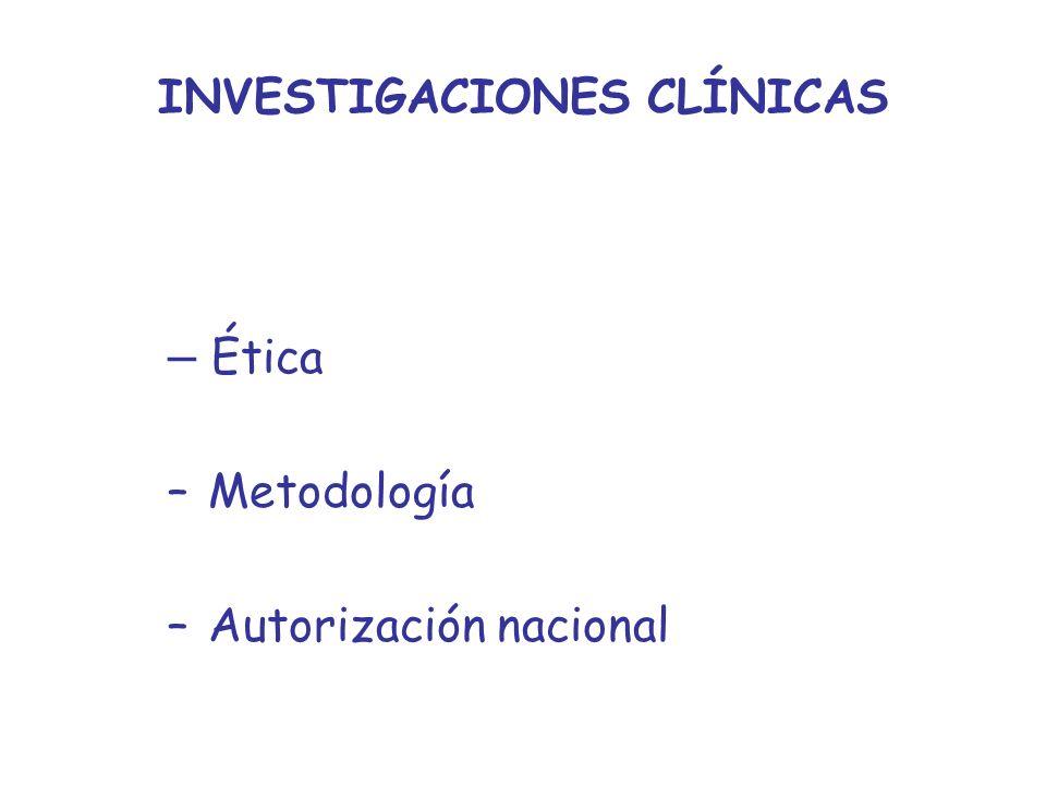 INVESTIGACIONES CLÍNICAS