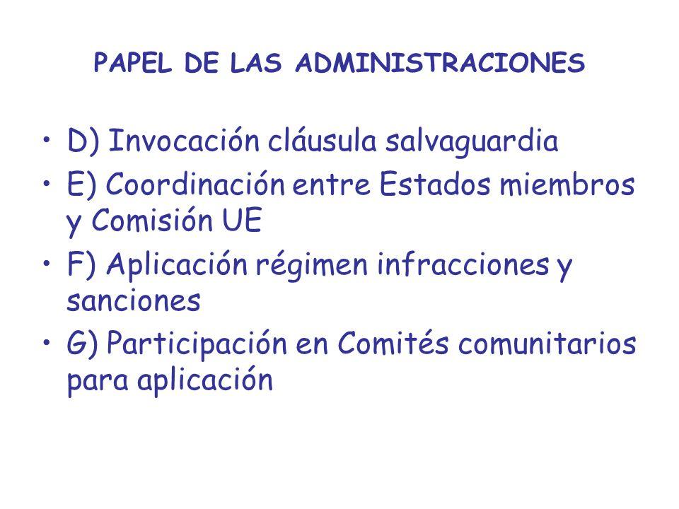PAPEL DE LAS ADMINISTRACIONES