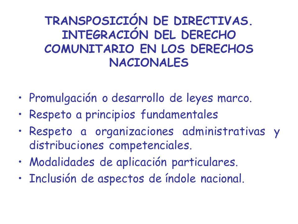 TRANSPOSICIÓN DE DIRECTIVAS