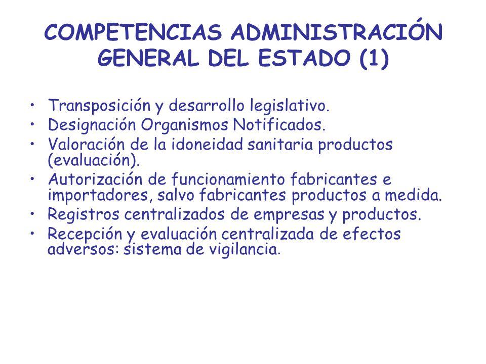 COMPETENCIAS ADMINISTRACIÓN GENERAL DEL ESTADO (1)