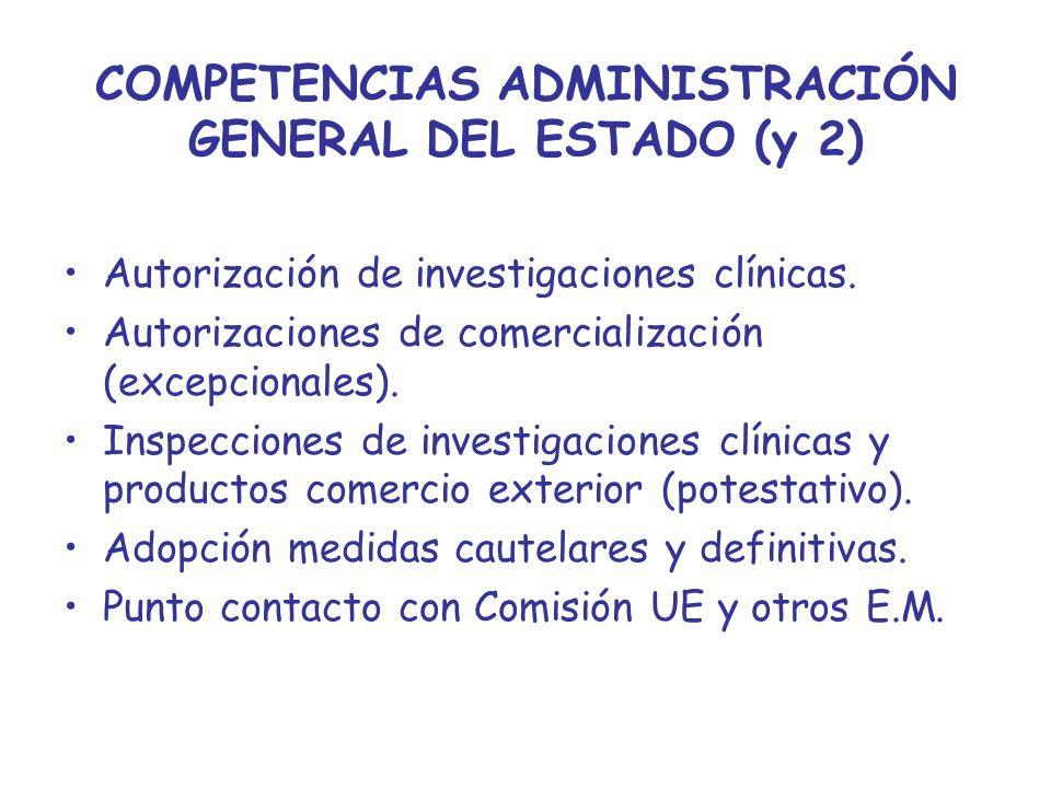 COMPETENCIAS ADMINISTRACIÓN GENERAL DEL ESTADO (y 2)