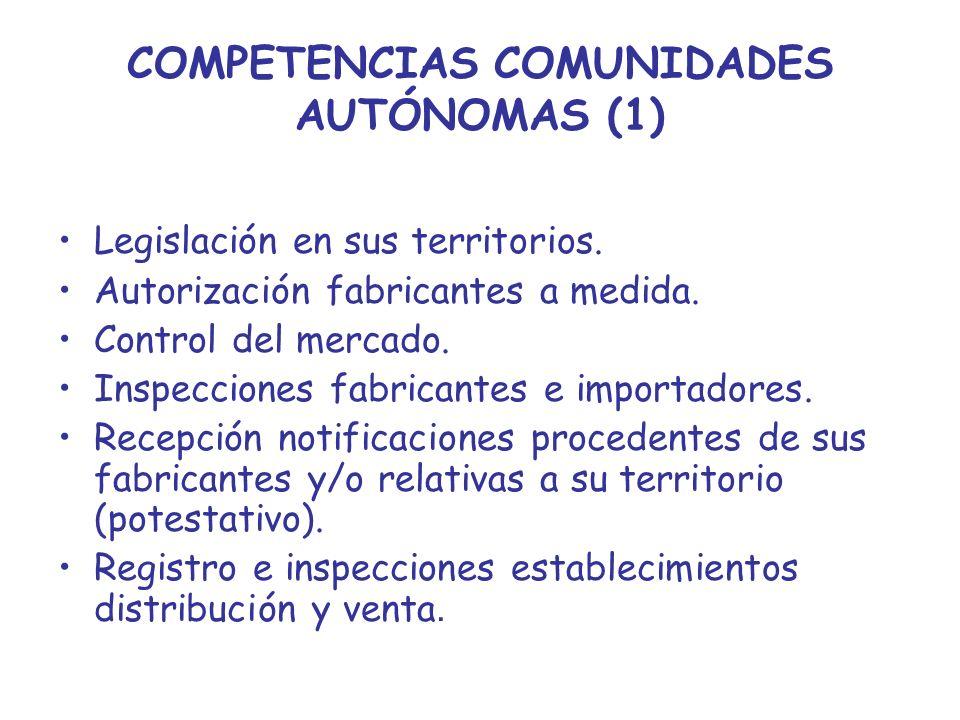 COMPETENCIAS COMUNIDADES AUTÓNOMAS (1)