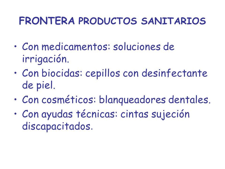 FRONTERA PRODUCTOS SANITARIOS