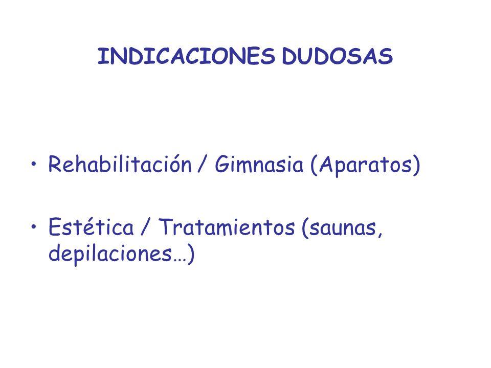 Rehabilitación / Gimnasia (Aparatos)