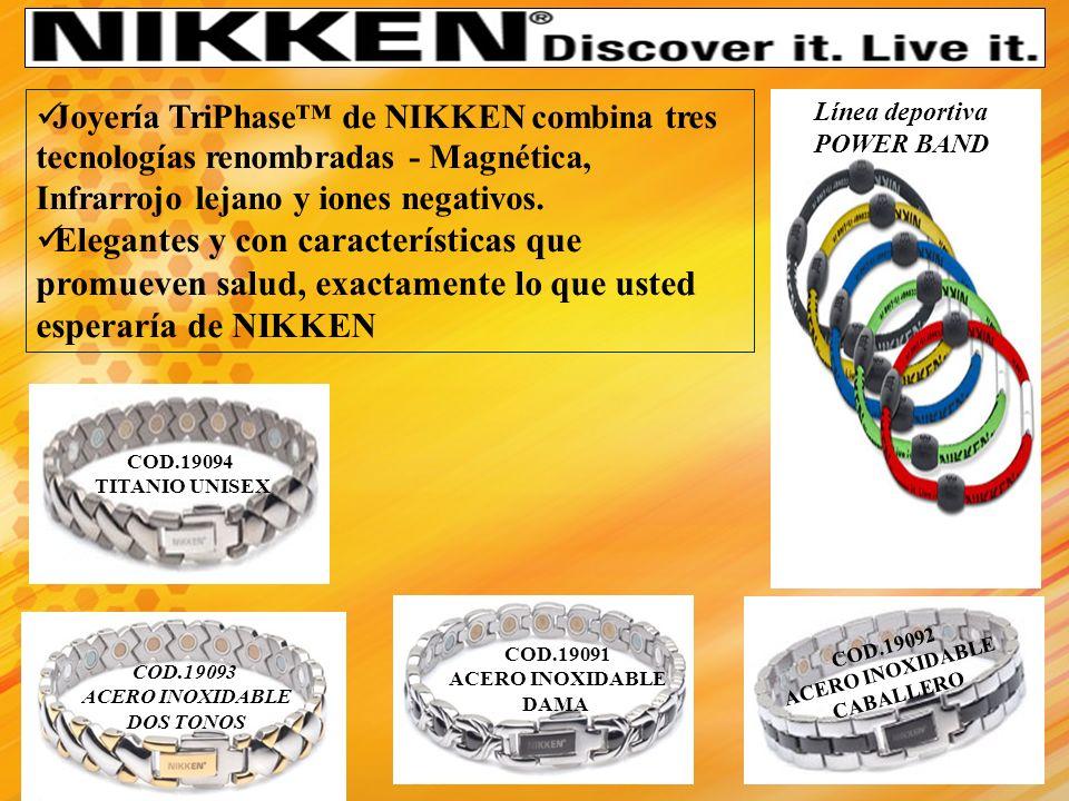 Joyería TriPhase™ de NIKKEN combina tres tecnologías renombradas - Magnética, Infrarrojo lejano y iones negativos.