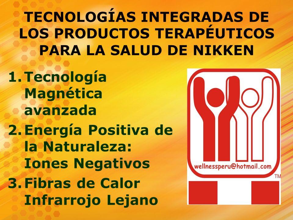 TECNOLOGÍAS INTEGRADAS DE LOS PRODUCTOS TERAPÉUTICOS PARA LA SALUD DE NIKKEN