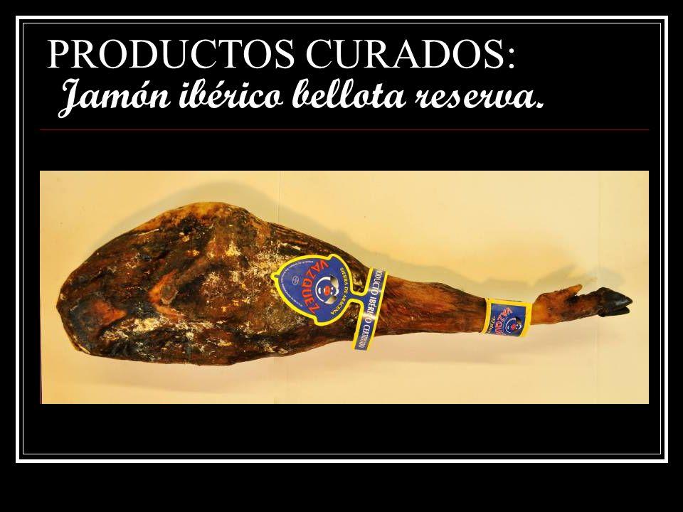 PRODUCTOS CURADOS: Jamón ibérico bellota reserva.