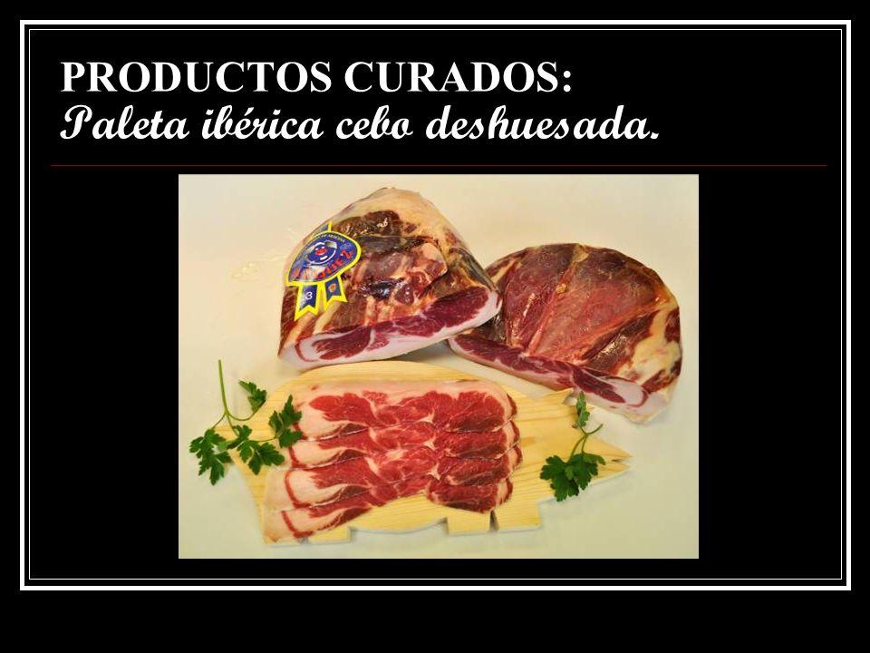 PRODUCTOS CURADOS: Paleta ibérica cebo deshuesada.