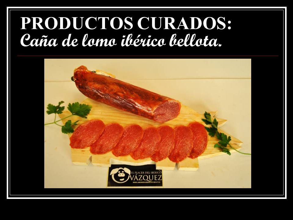 PRODUCTOS CURADOS: Caña de lomo ibérico bellota.