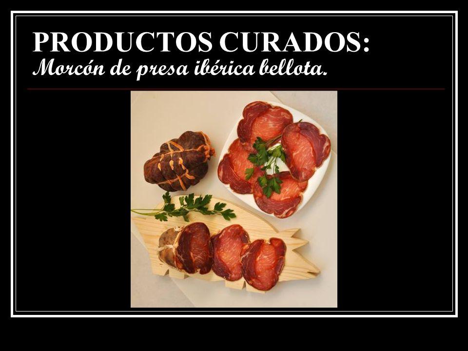 PRODUCTOS CURADOS: Morcón de presa ibérica bellota.