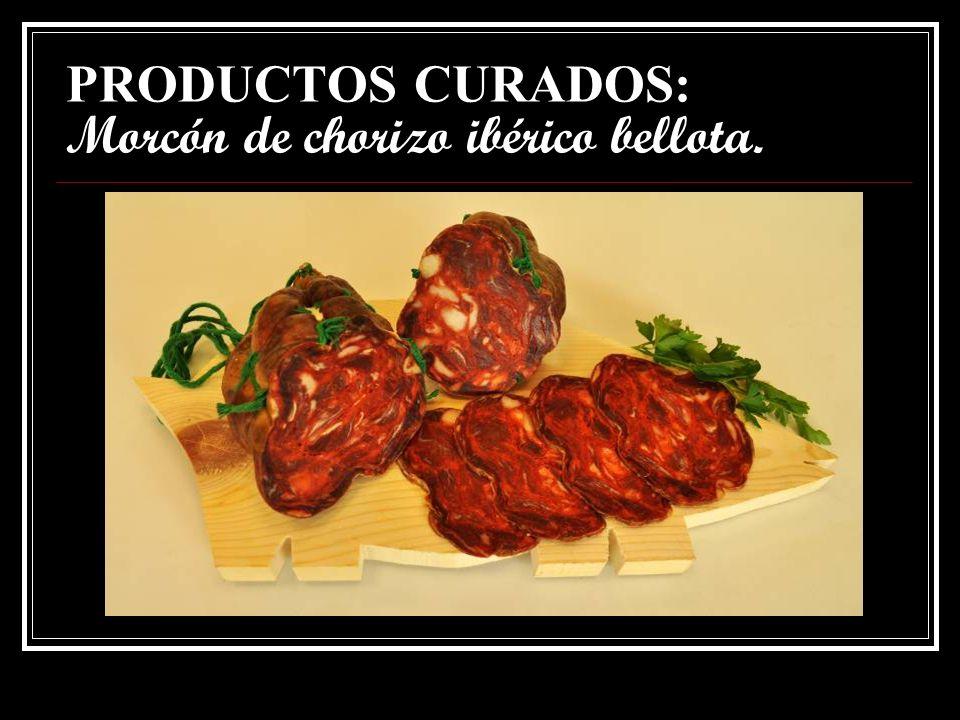 PRODUCTOS CURADOS: Morcón de chorizo ibérico bellota.