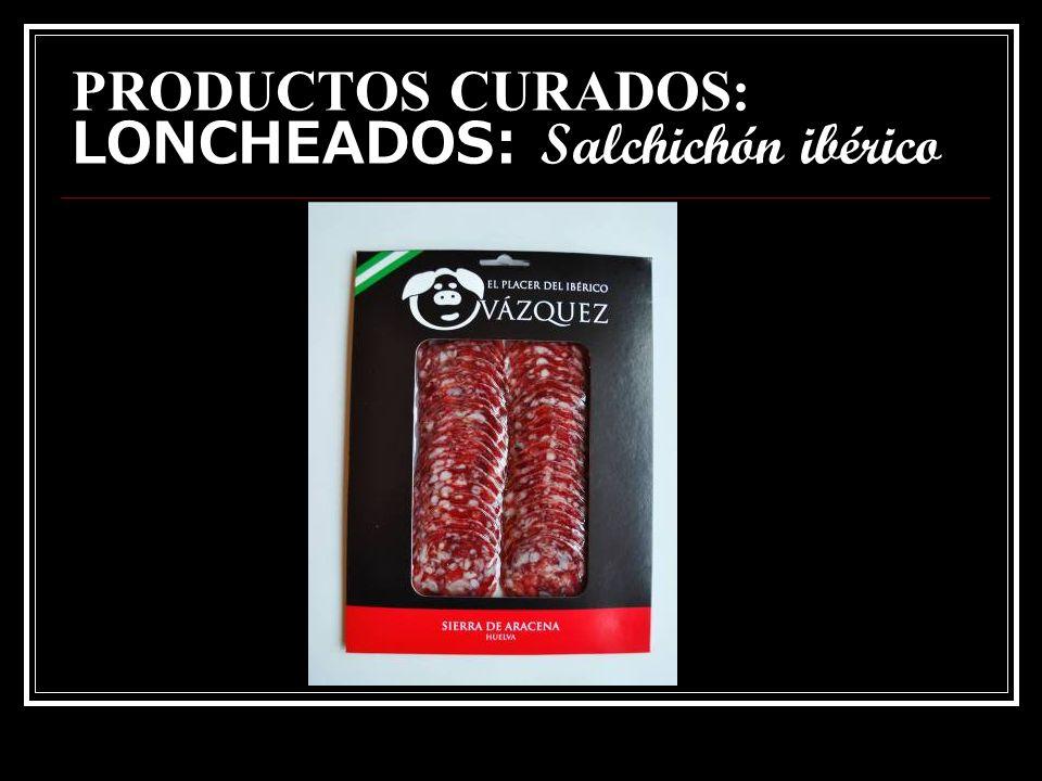 PRODUCTOS CURADOS: LONCHEADOS: Salchichón ibérico