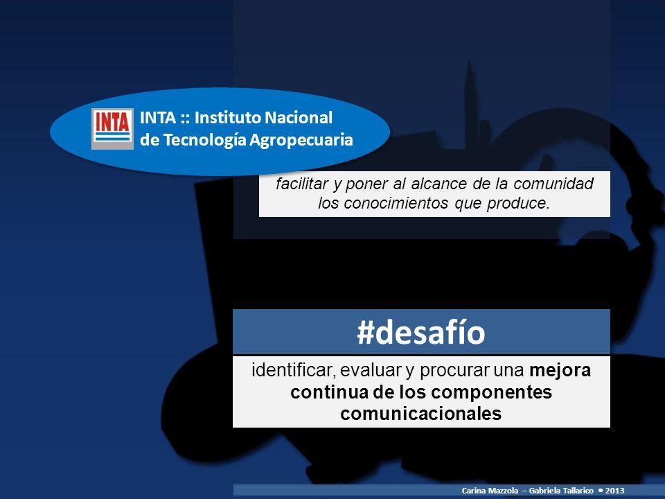 #desafío INTA :: Instituto Nacional de Tecnología Agropecuaria