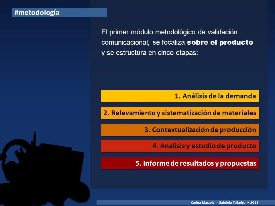 2. Relevamiento y sistematización de materiales