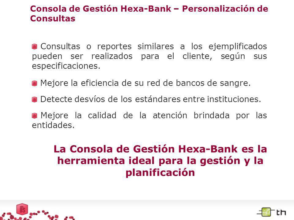 Consola de Gestión Hexa-Bank – Personalización de Consultas