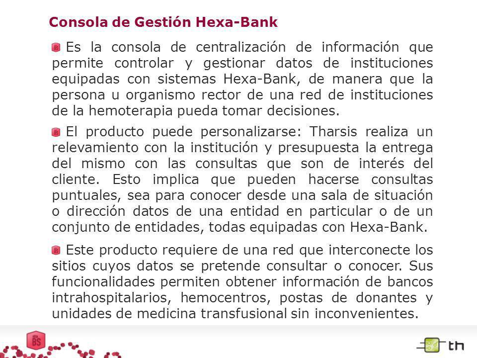 Consola de Gestión Hexa-Bank
