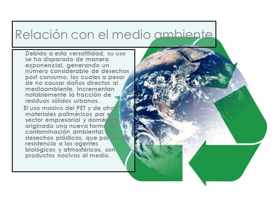Relación con el medio ambiente