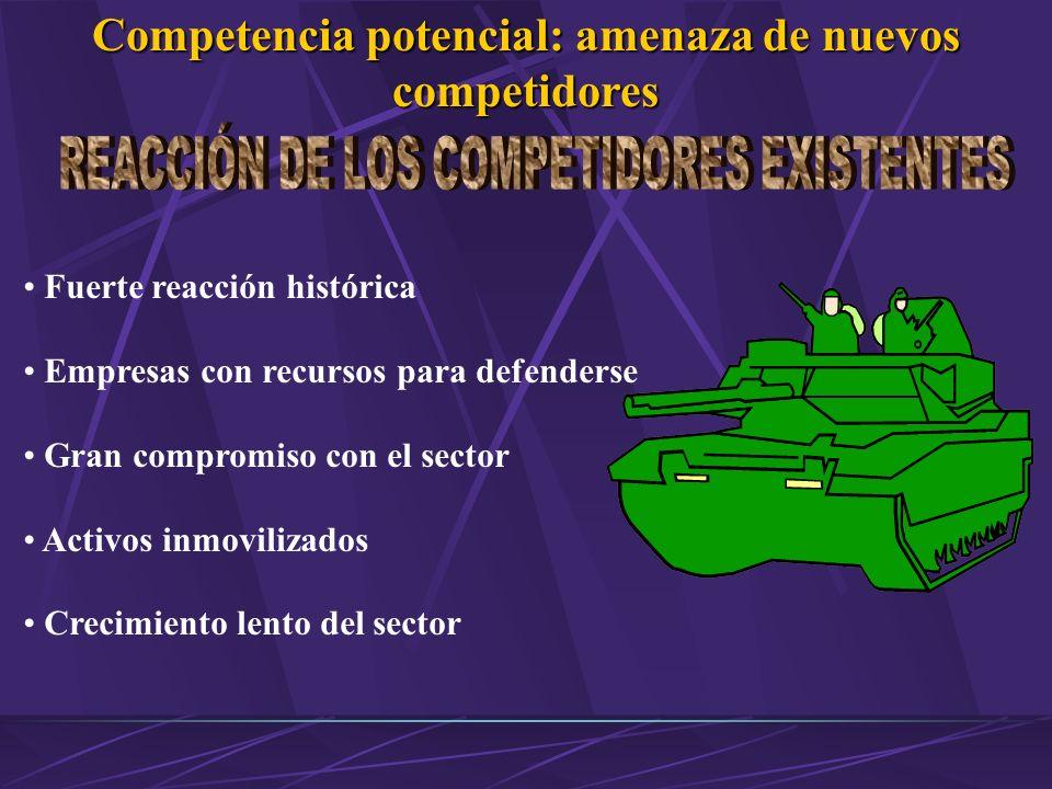 Competencia potencial: amenaza de nuevos competidores