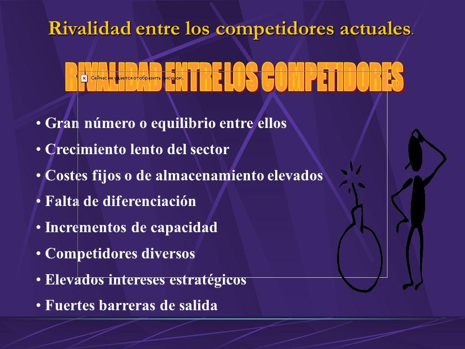 RIVALIDAD ENTRE LOS COMPETIDORES