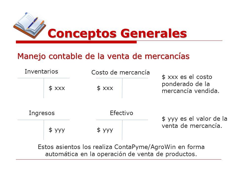 Conceptos Generales Manejo contable de la venta de mercancías