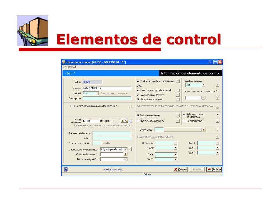 Elementos de control