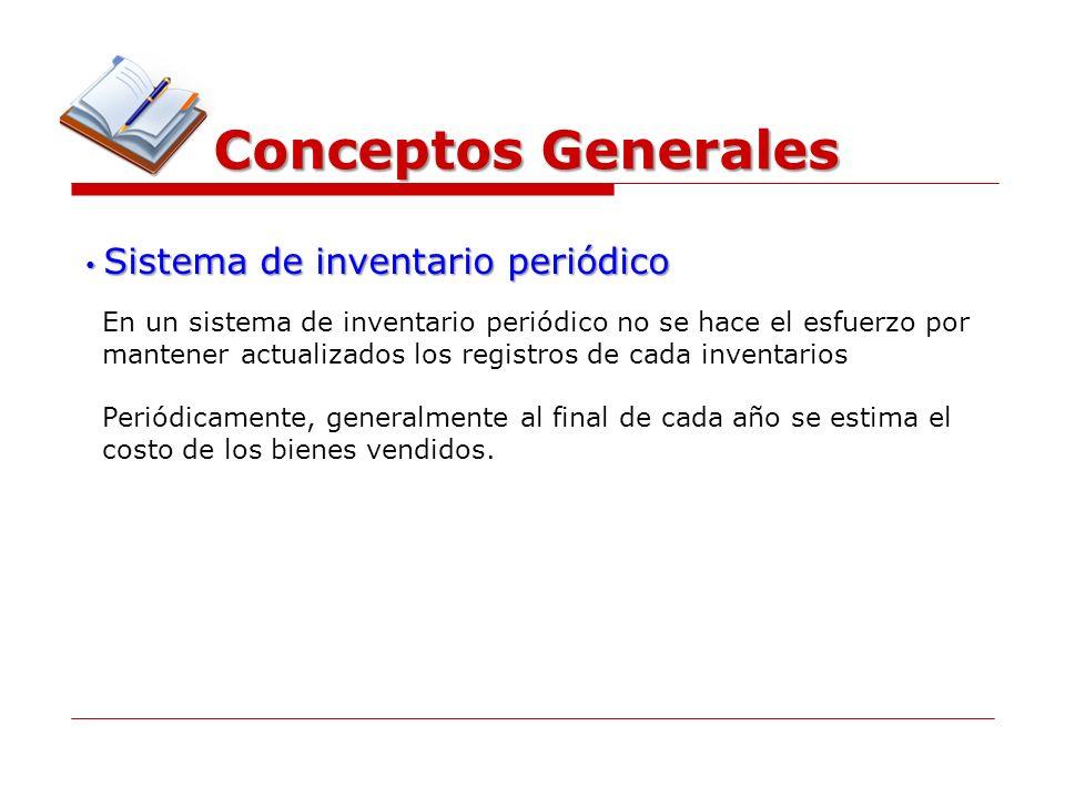Conceptos Generales Sistema de inventario periódico