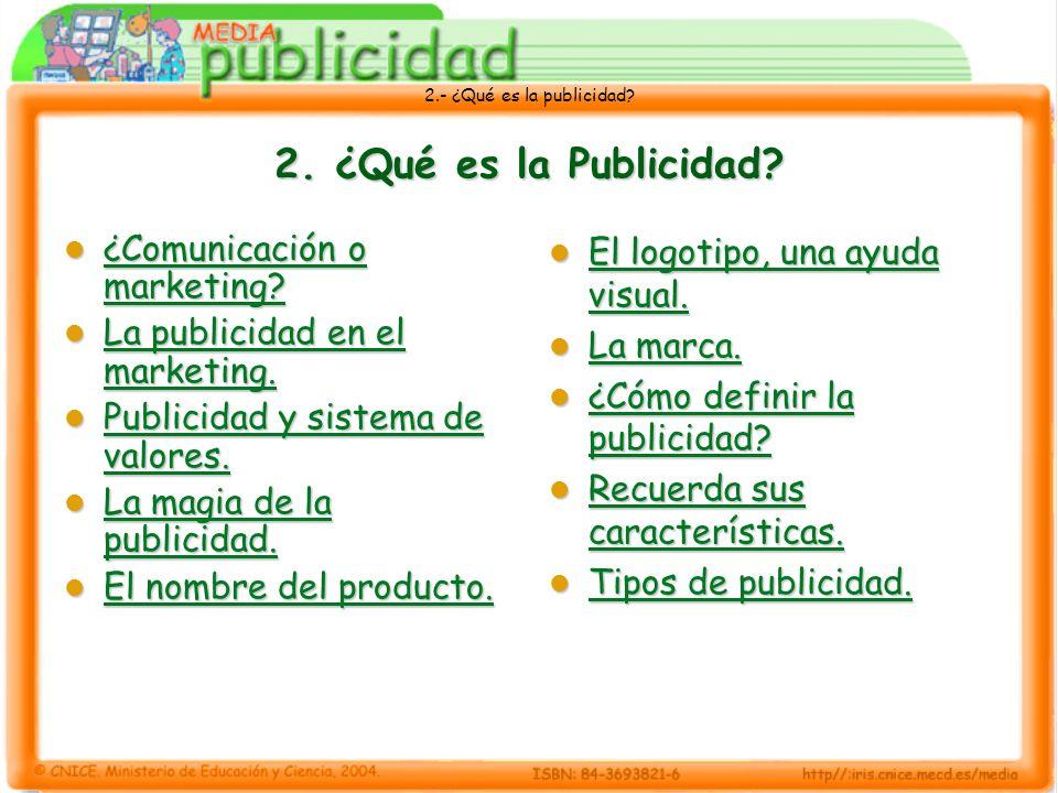 2. ¿Qué es la Publicidad ¿Comunicación o marketing