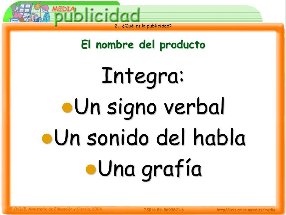 Integra: Un signo verbal Un sonido del habla Una grafía
