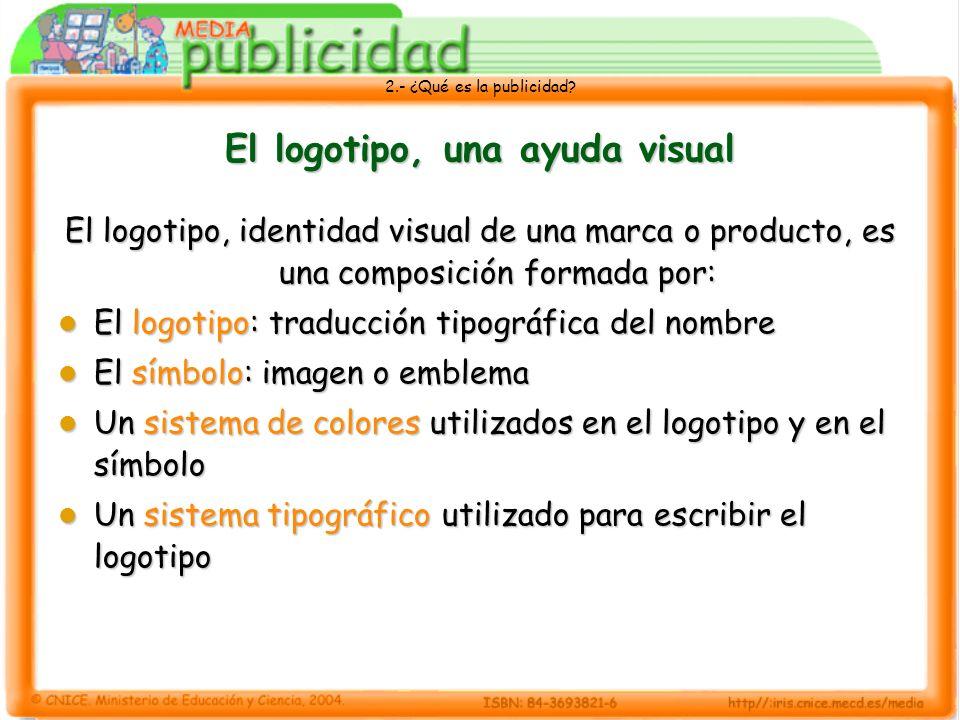 El logotipo, una ayuda visual