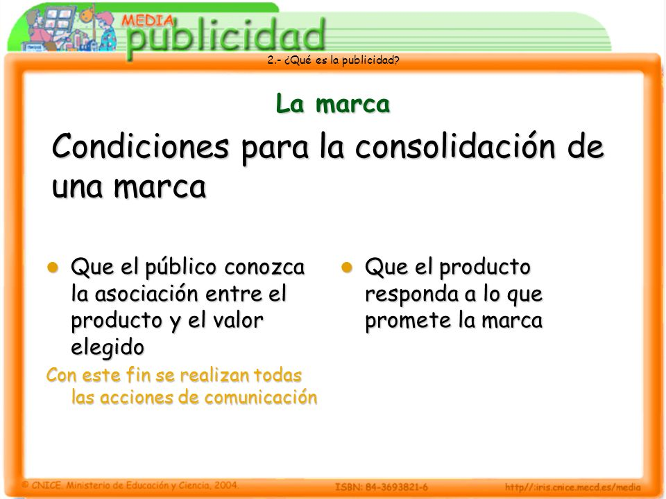Condiciones para la consolidación de una marca