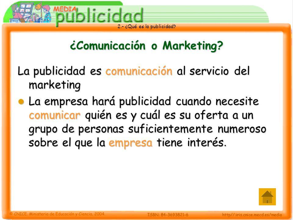 ¿Comunicación o Marketing