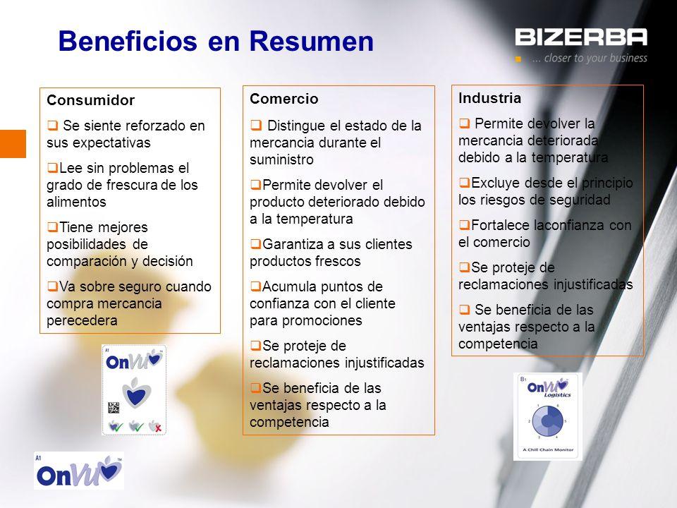 Beneficios en Resumen Consumidor Comercio Industria