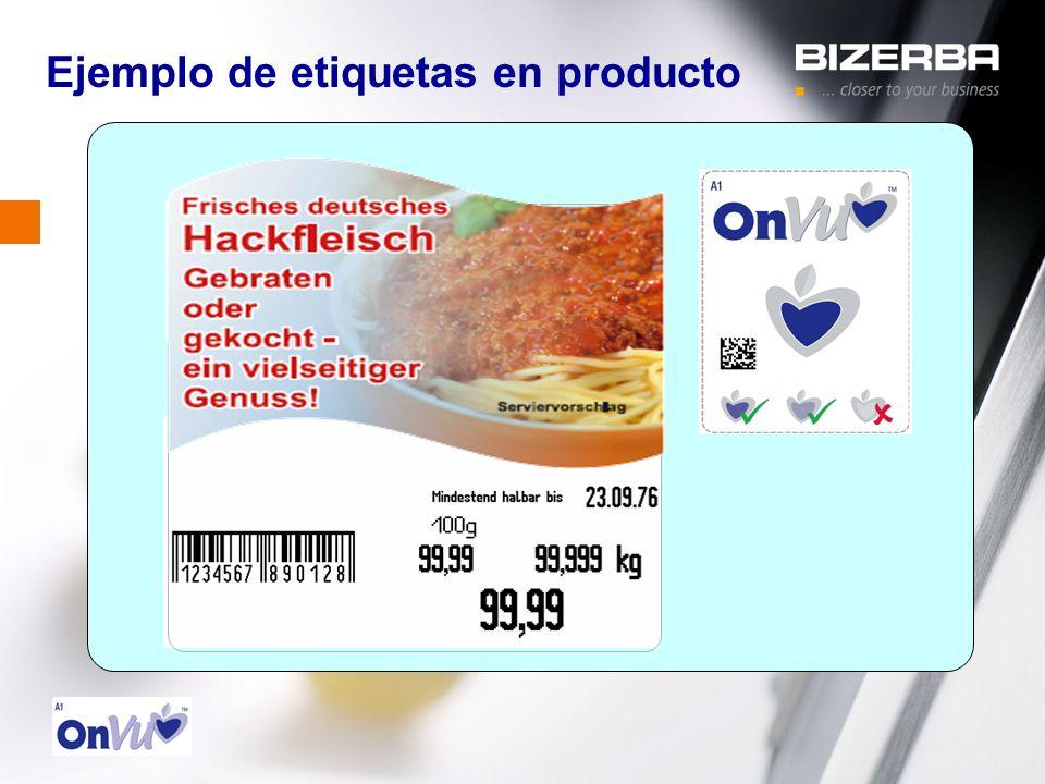 Ejemplo de etiquetas en producto