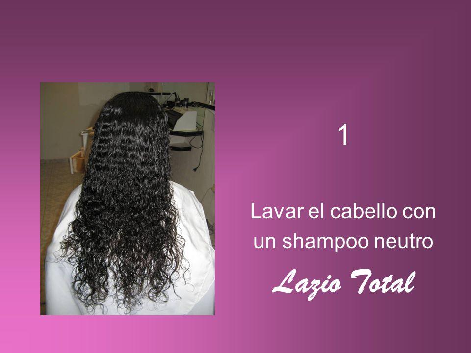 1 Lavar el cabello con un shampoo neutro Lazio Total