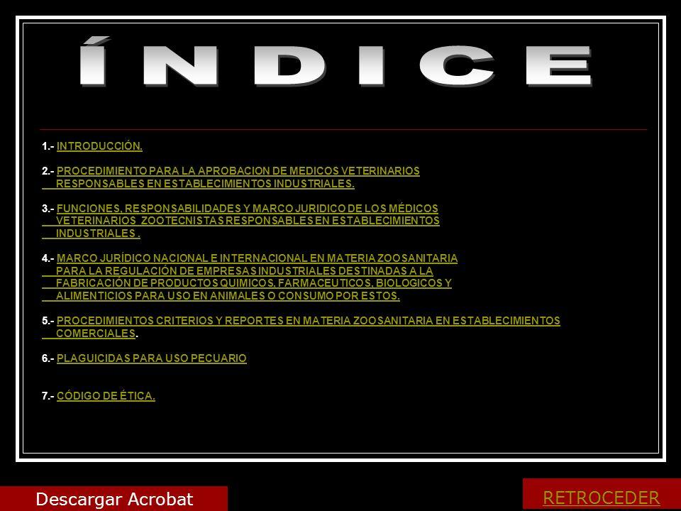 ÍNDICE Descargar Acrobat RETROCEDER 1.- INTRODUCCIÓN.