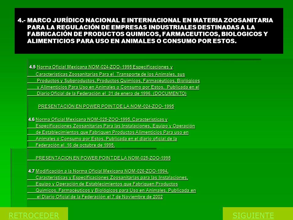 4.5 Norma Oficial Mexicana NOM-024-ZOO- 1995 Especificaciones y