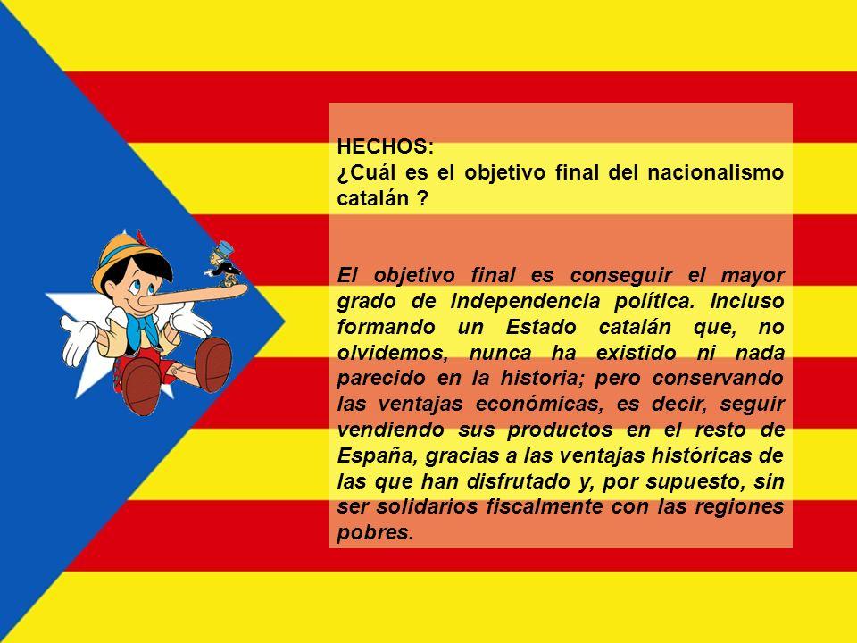 HECHOS: ¿Cuál es el objetivo final del nacionalismo catalán