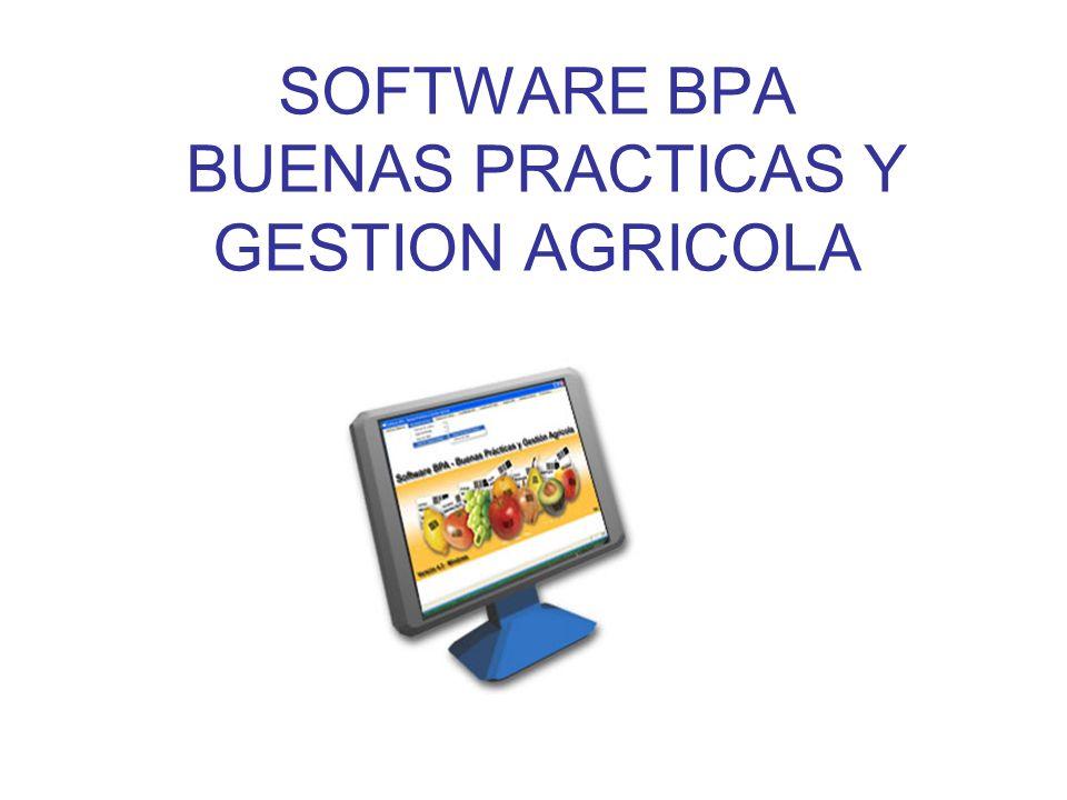 SOFTWARE BPA BUENAS PRACTICAS Y GESTION AGRICOLA