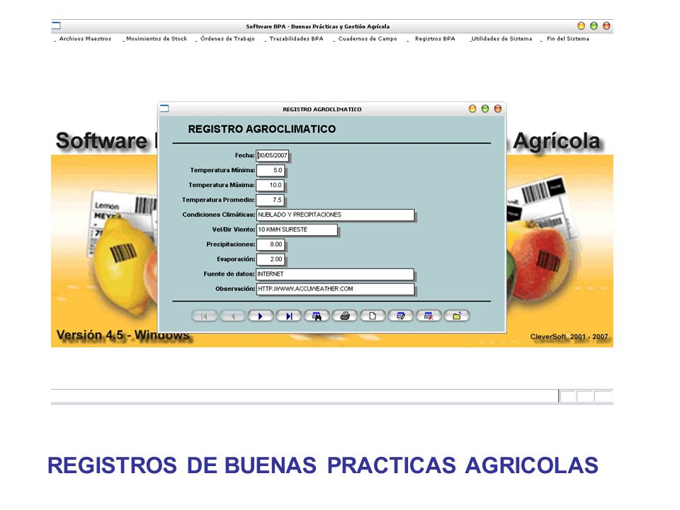REGISTROS DE BUENAS PRACTICAS AGRICOLAS