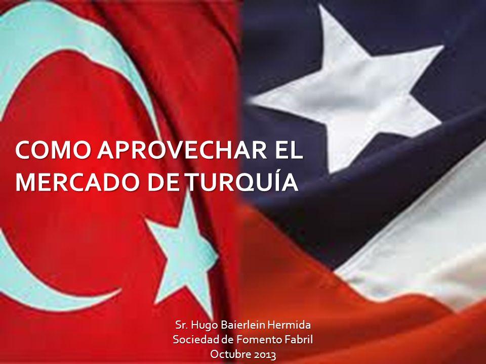 COMO APROVECHAR EL MERCADO DE TURQUÍA Sr. Hugo Baierlein Hermida